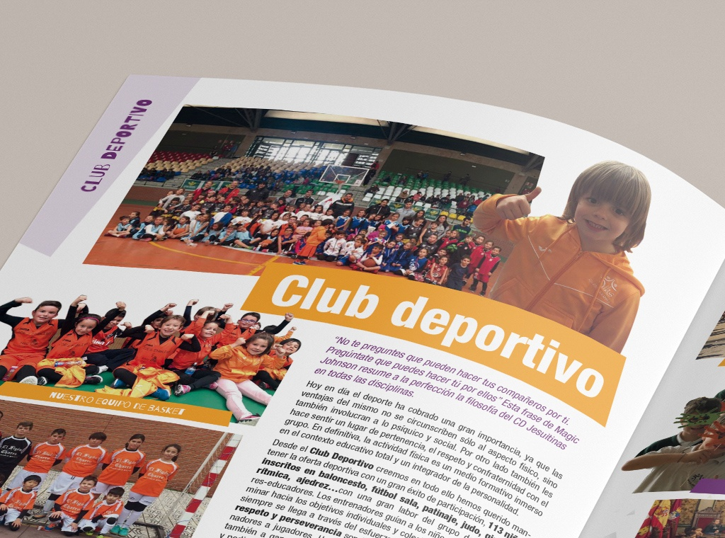 Diseño editorial y maquetación revista colegio